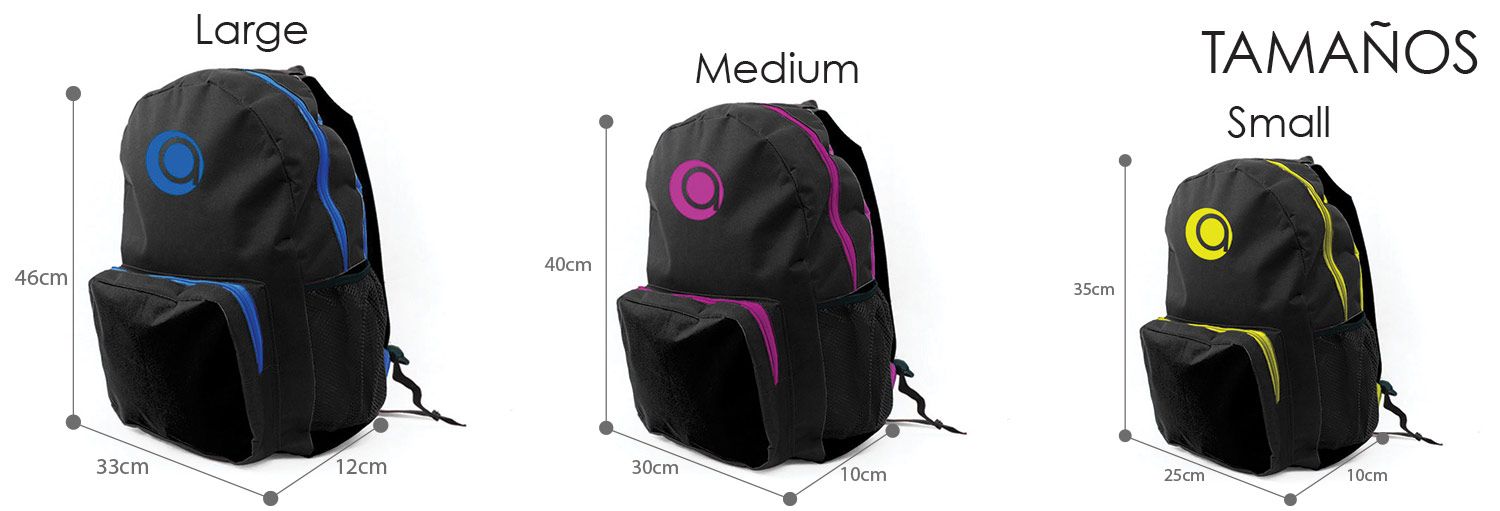 SIZES MOCHILAS